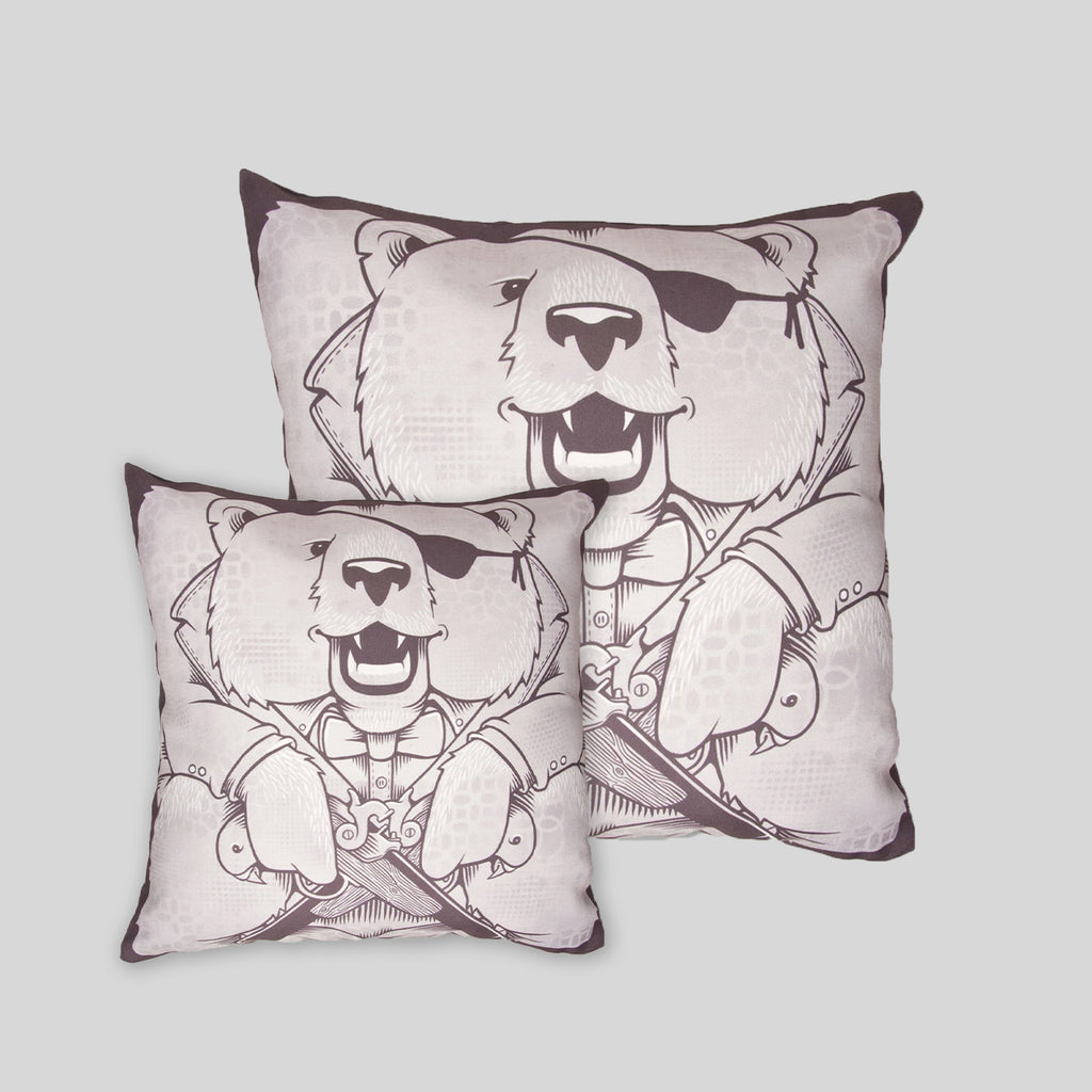 MWW - The Bears Pillow Cover by Jeremy Fish