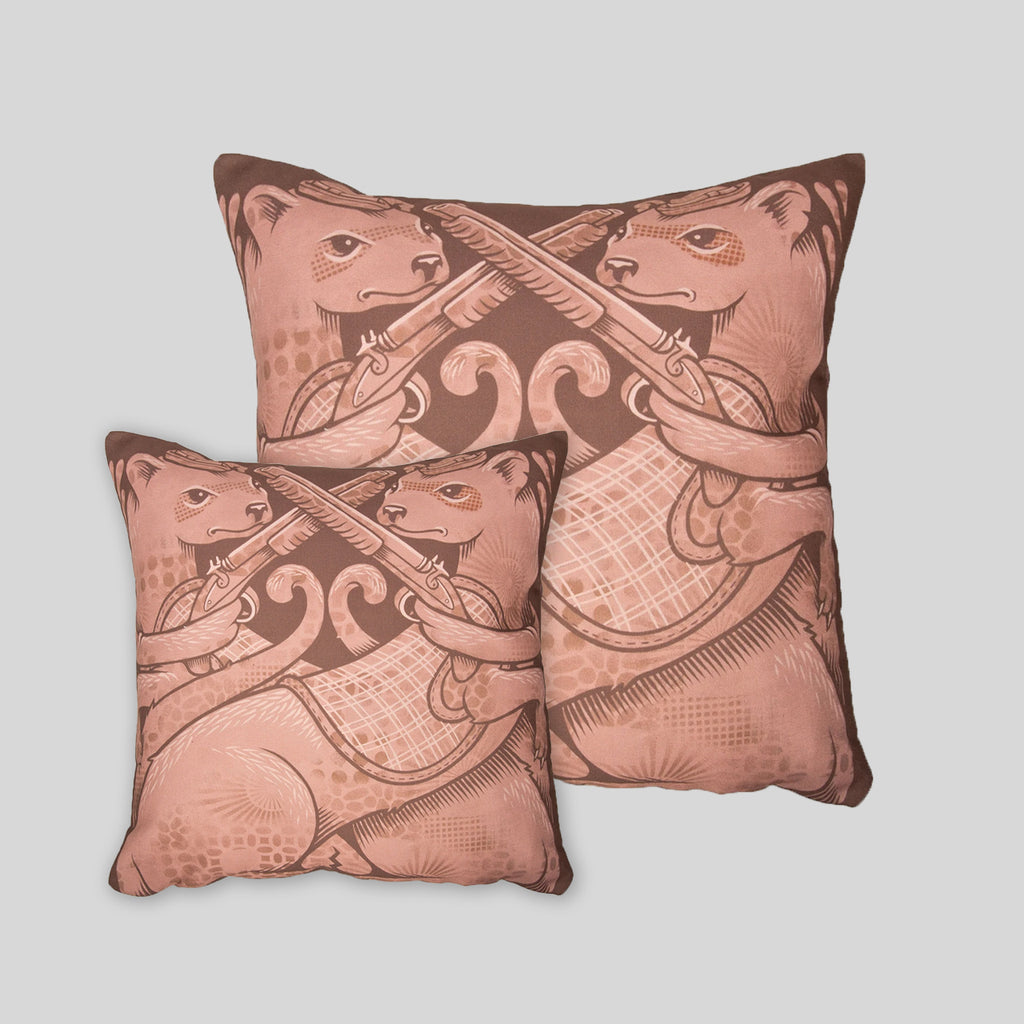 MWW - The Ferrets Pillow Cover by Jeremy Fish
