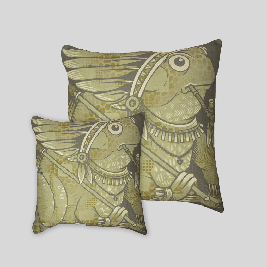 MWW - The Frogs Pillow Cover by Jeremy Fish