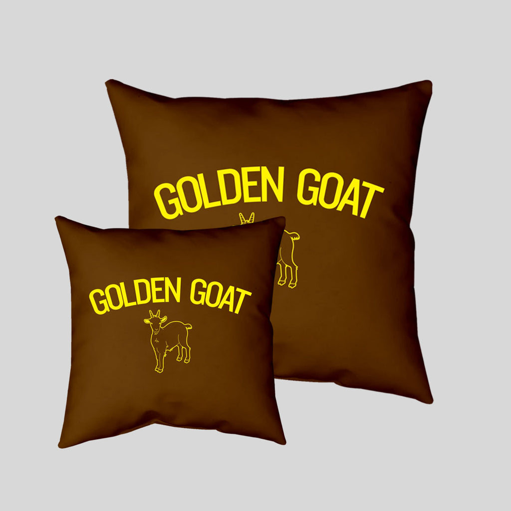 MWW - Golden Goat Pillow Cover by Upper Playground