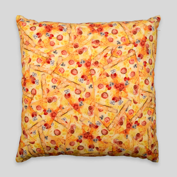 David Choe - Pizza Party Pillow by David Choe