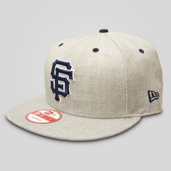 Upper Playground - Lux - SF Giants New Era Snapback in Heather