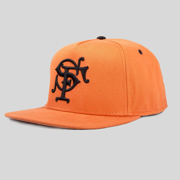 Upper Playground - Lux - SF Monogram Snapback in Texas Orange