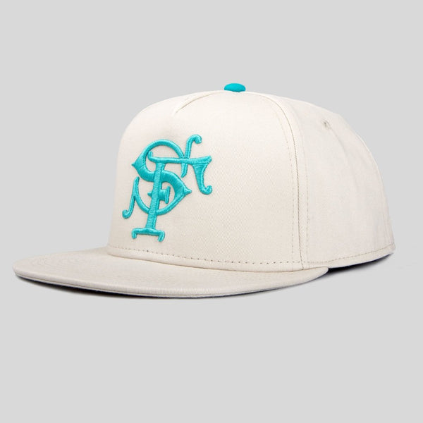Upper Playground - Lux - SF Monogram Snapback in Stone