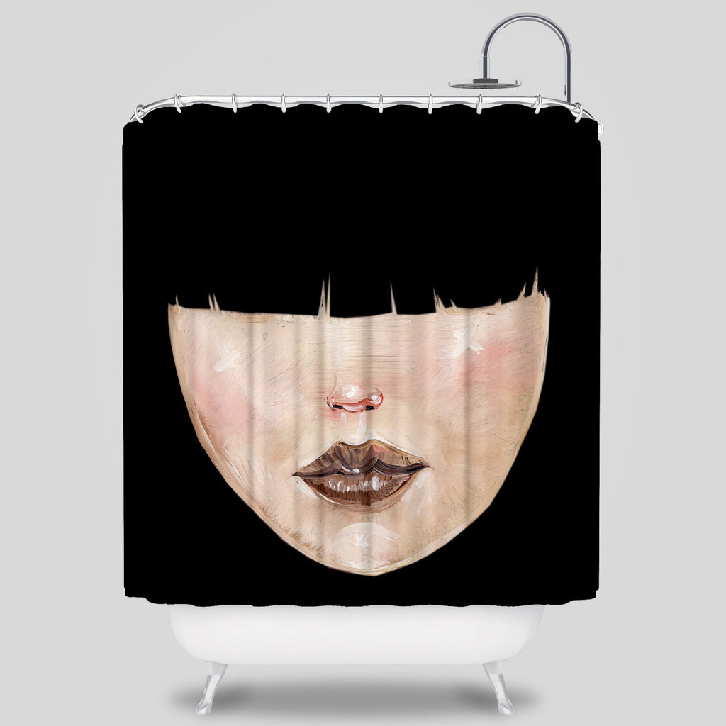 David Choe - Bangs Shower Curtain by David Choe