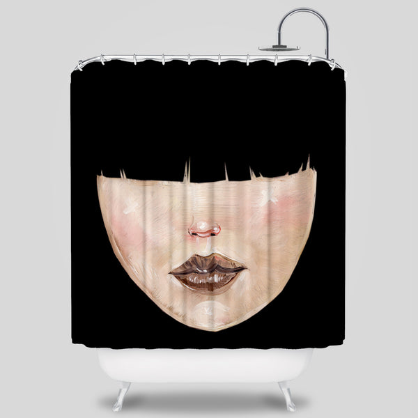 MWW - BANGS SHOWER CURTAIN by DAVID CHOE