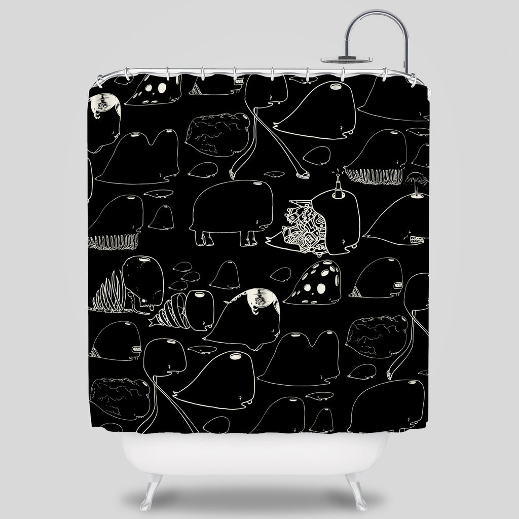 MWW - Choe Whales Shower Curtain by David Choe