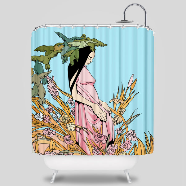 Upper Playground - Everglade Shower Curtain by Sam Flores