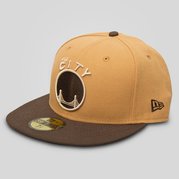 Upper Playground - Lux - THE CITY New Era Fitted Cap in Tan/Walnut