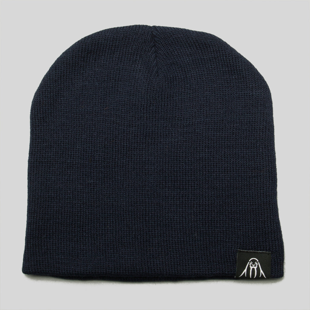 Upper Playground - Lux - Walrus Label Beanie in Navy