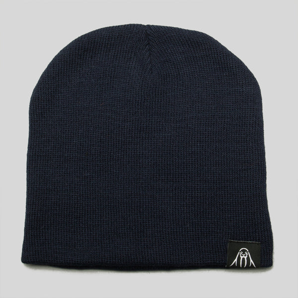 Upper Playground - Walrus Label Beanie in Navy