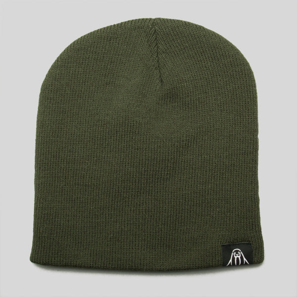 Upper Playground - Lux - Walrus Label Beanie in Olive