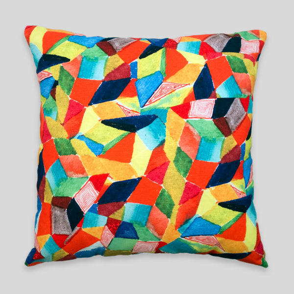 David Choe - Crystals Pillow by David Choe