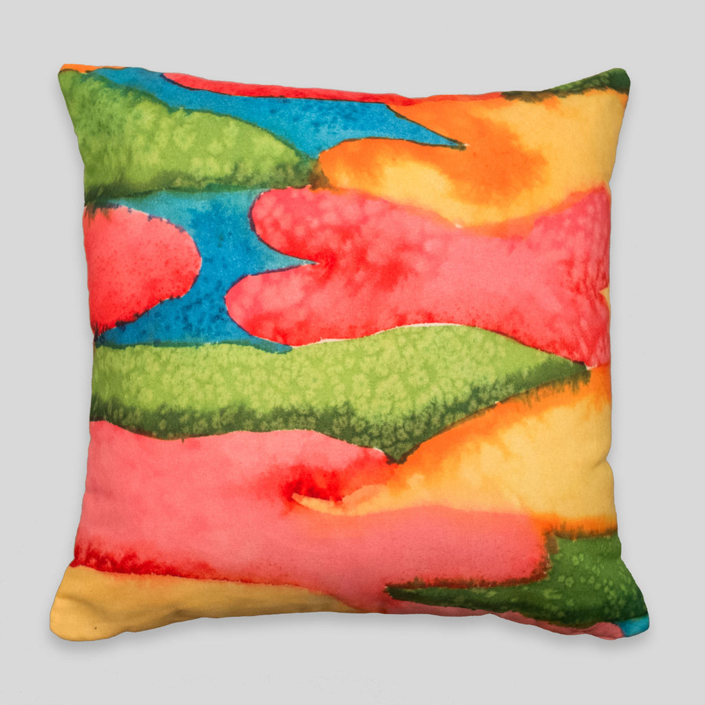 David Choe - Watercolor Stains Pillow by David Choe