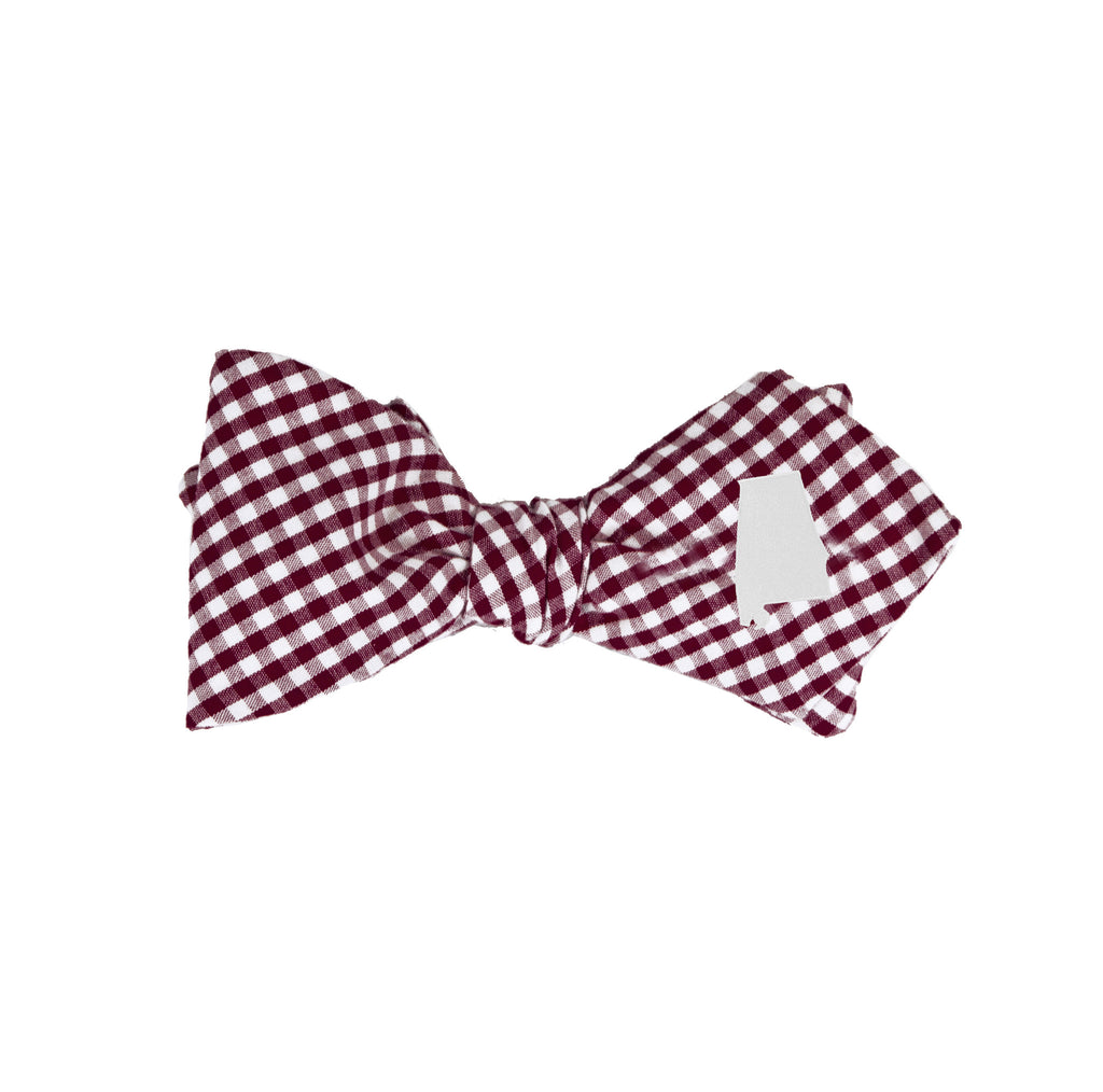 Alabama Bow Tie - Crimson & White