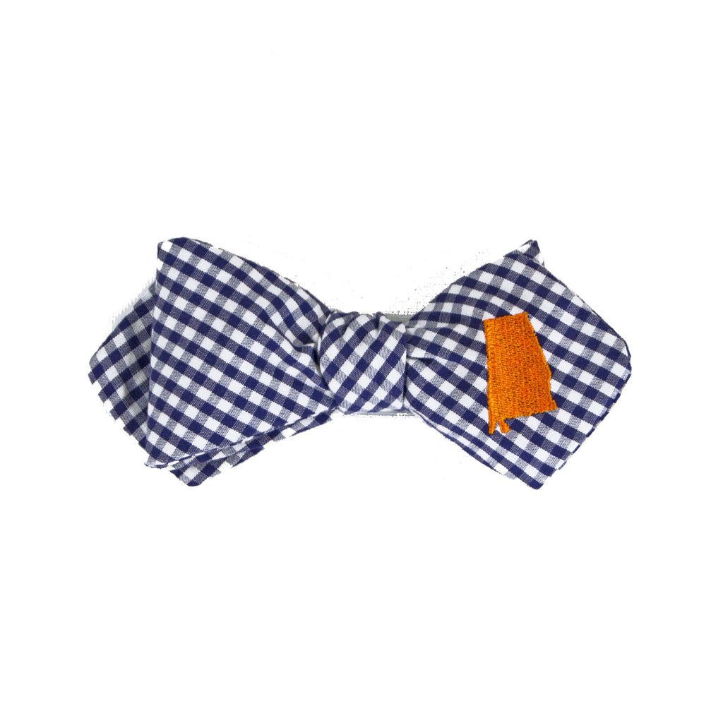 Alabama Bow Tie - Navy & Orange