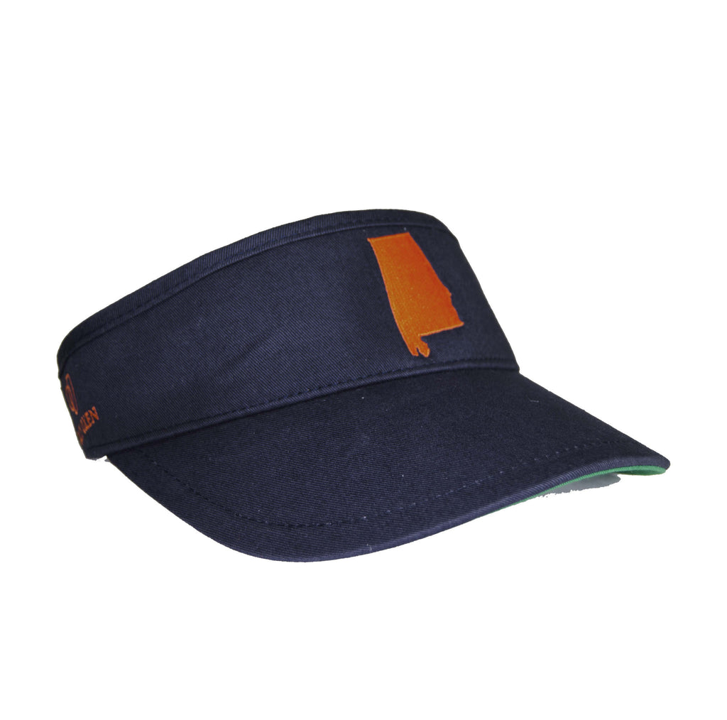 Alabama Visor - Navy & Orange