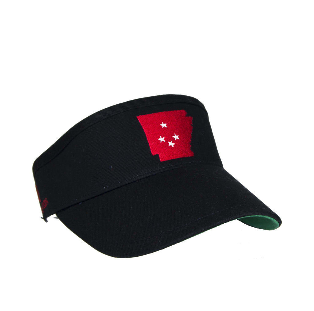 Arkansas Visor - Black & Cardinal