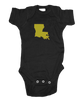 Louisiana Onesie - Black & Gold