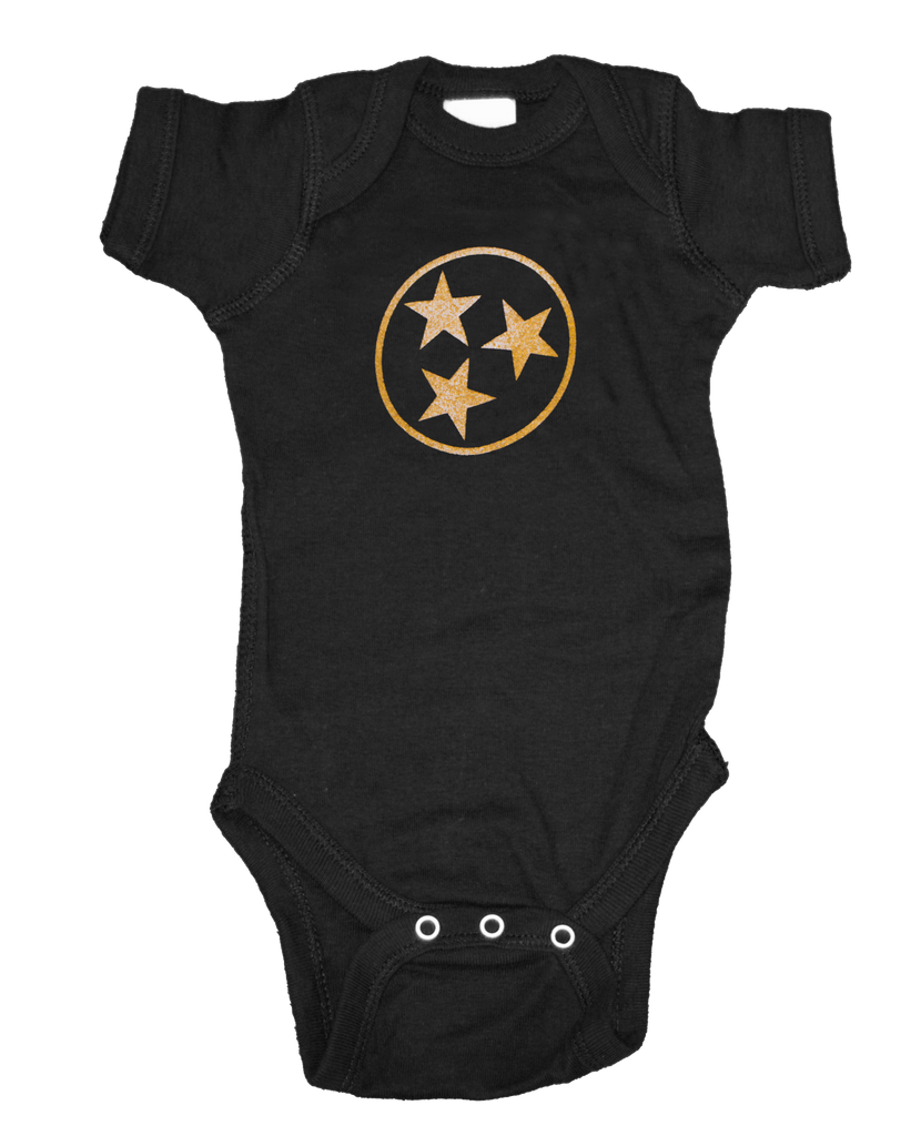 Tennessee Onesie - Black & Gold