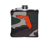 Florida Flask - Camo, Royal Blue & Orange