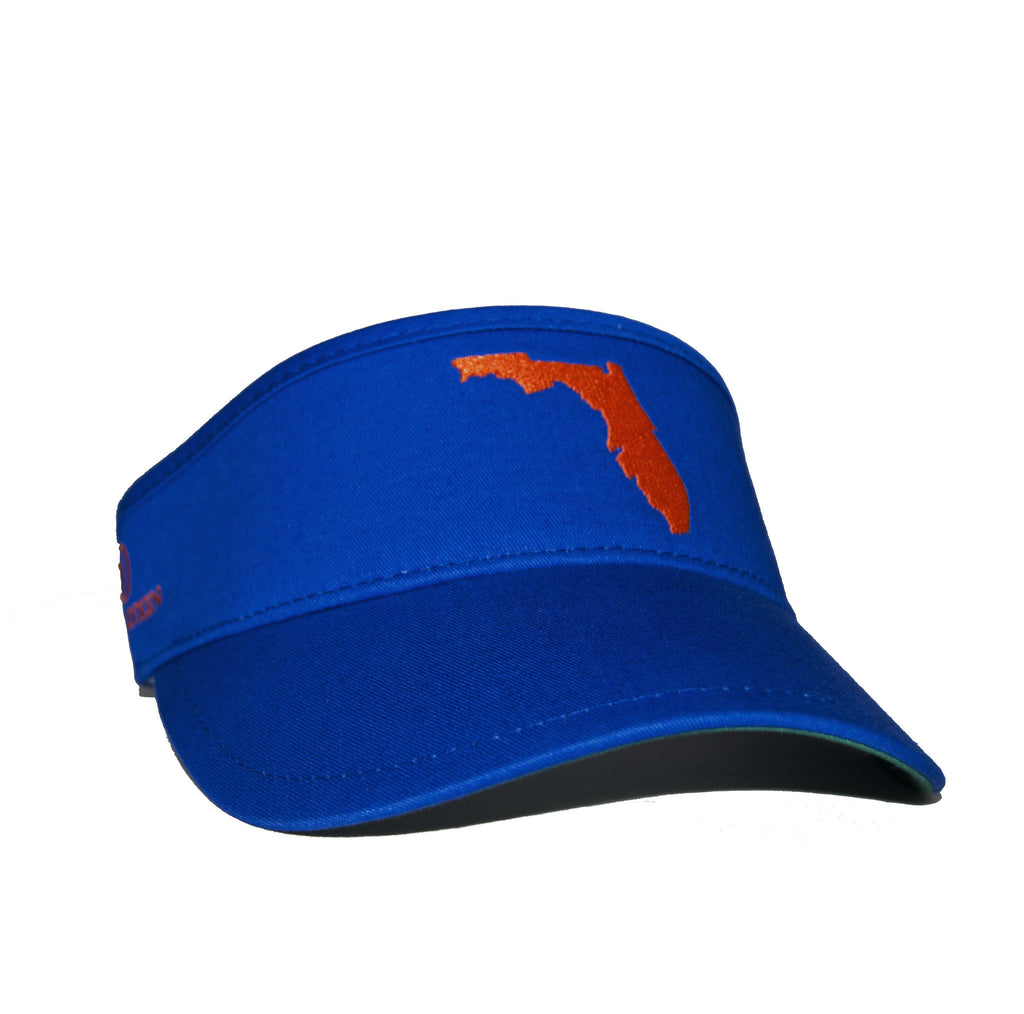 Florida Visor - Royal Blue & Orange