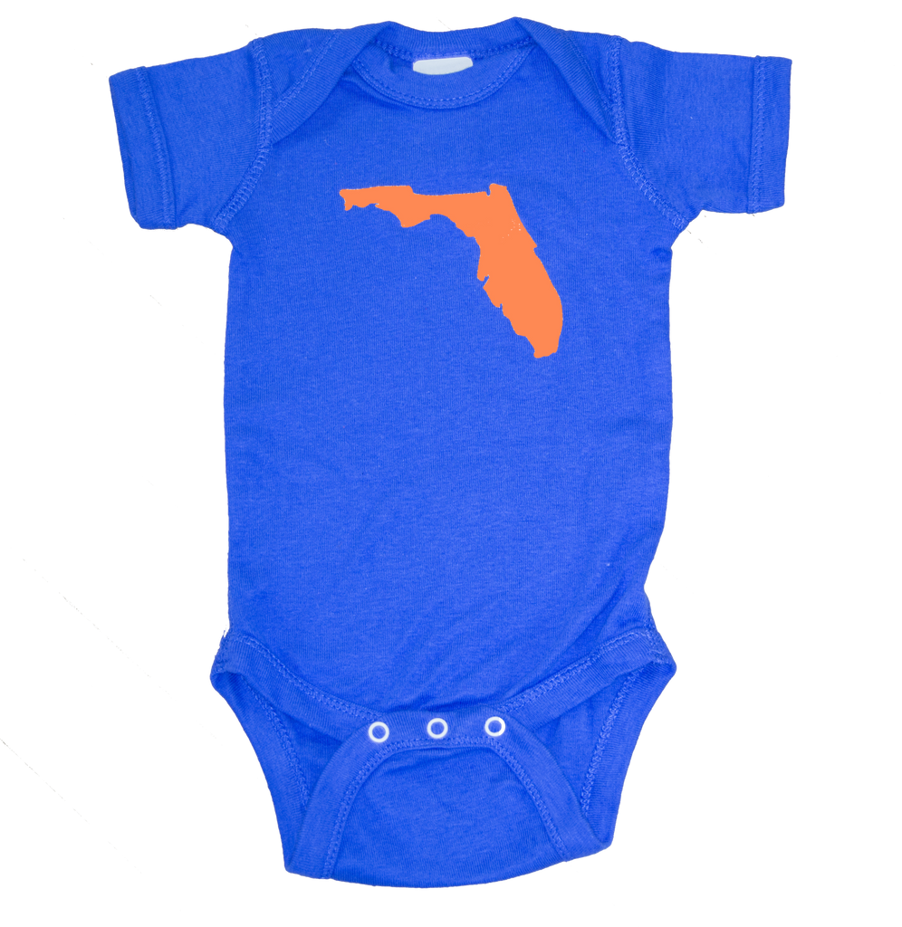 Florida Onesie - Royal & Orange