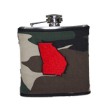 Georgia Flask - Camo, Red & Black