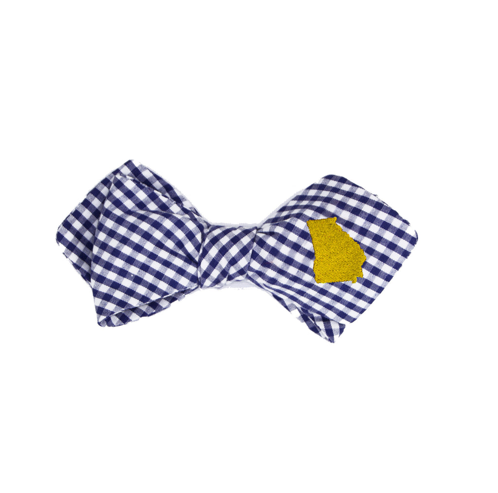Georgia Bow Tie - Navy & Gold