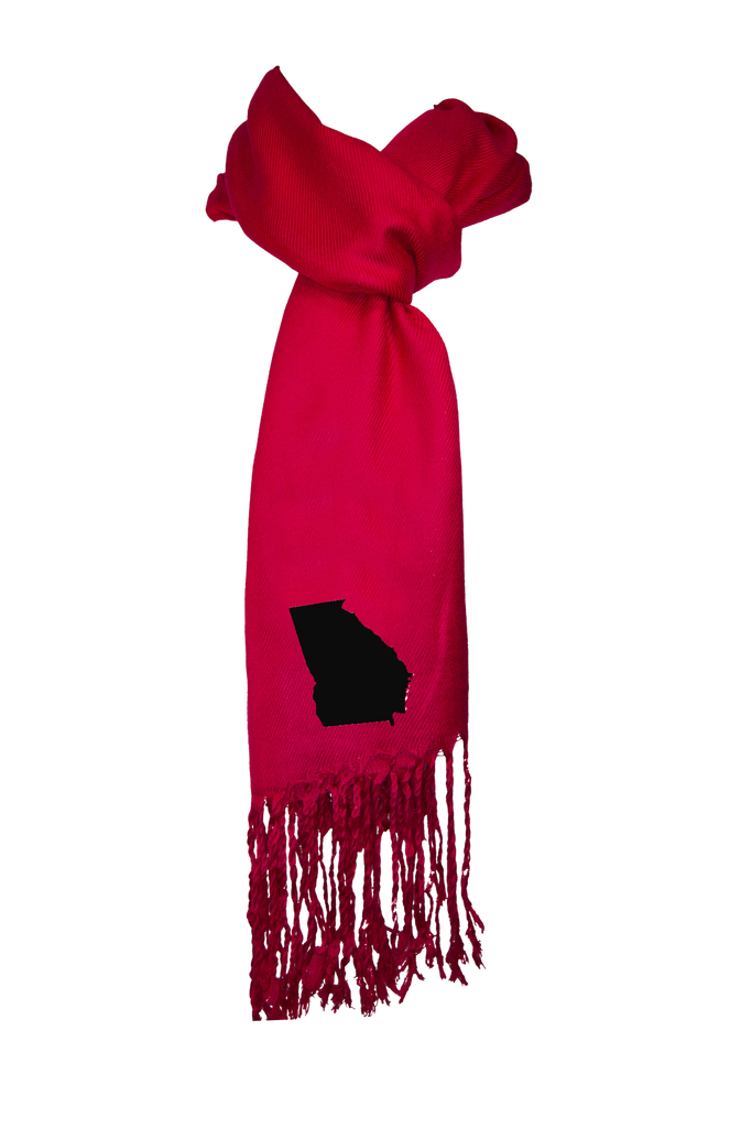 Georgia Scarf - Red & Black