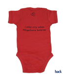 Georgia Onesie - Red & Black
