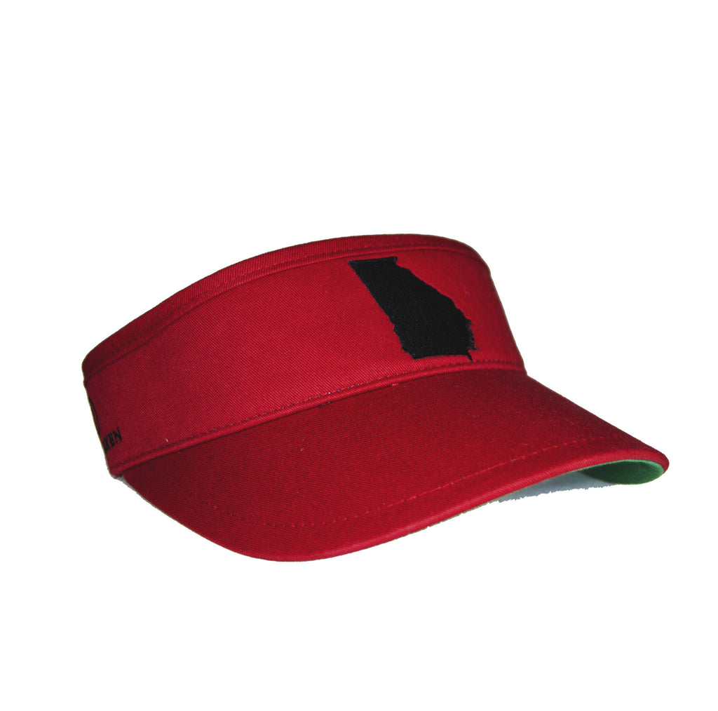 Georgia Visor - Red & Black