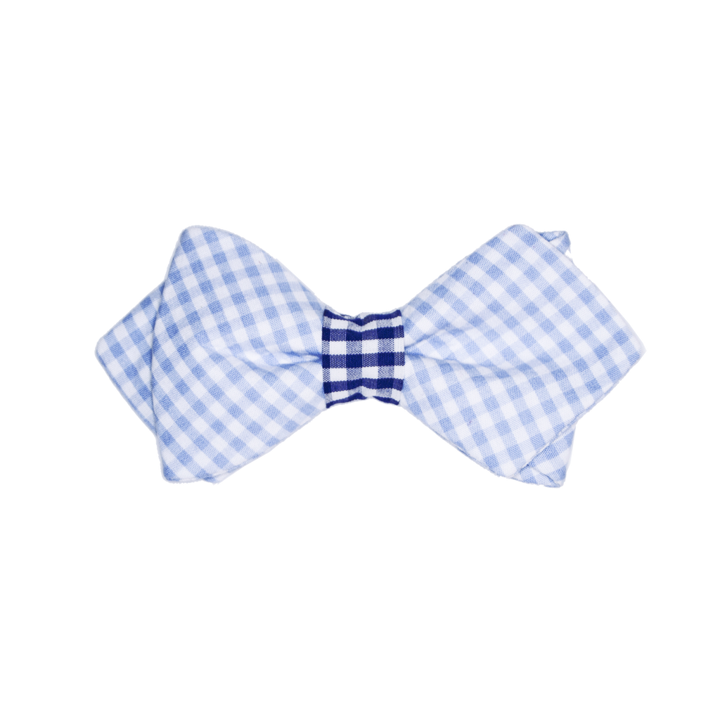 Boy's Light Blue & Navy Bow Tie