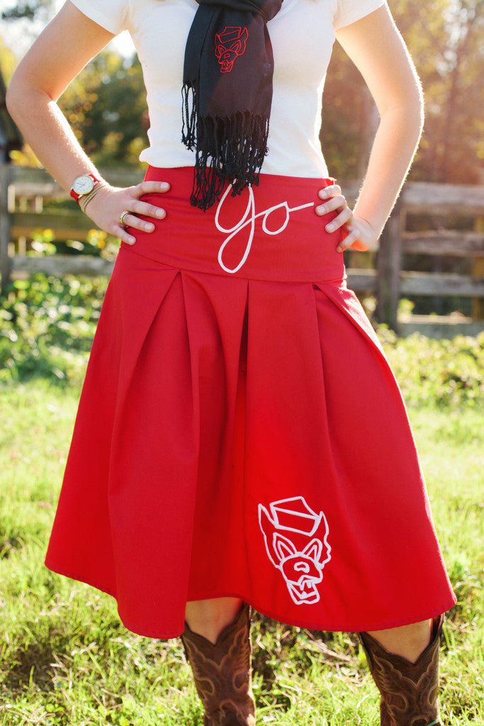 NCSU Wolfpack Pleated Skirt