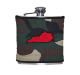 Kentucky Flask - Camo & Red