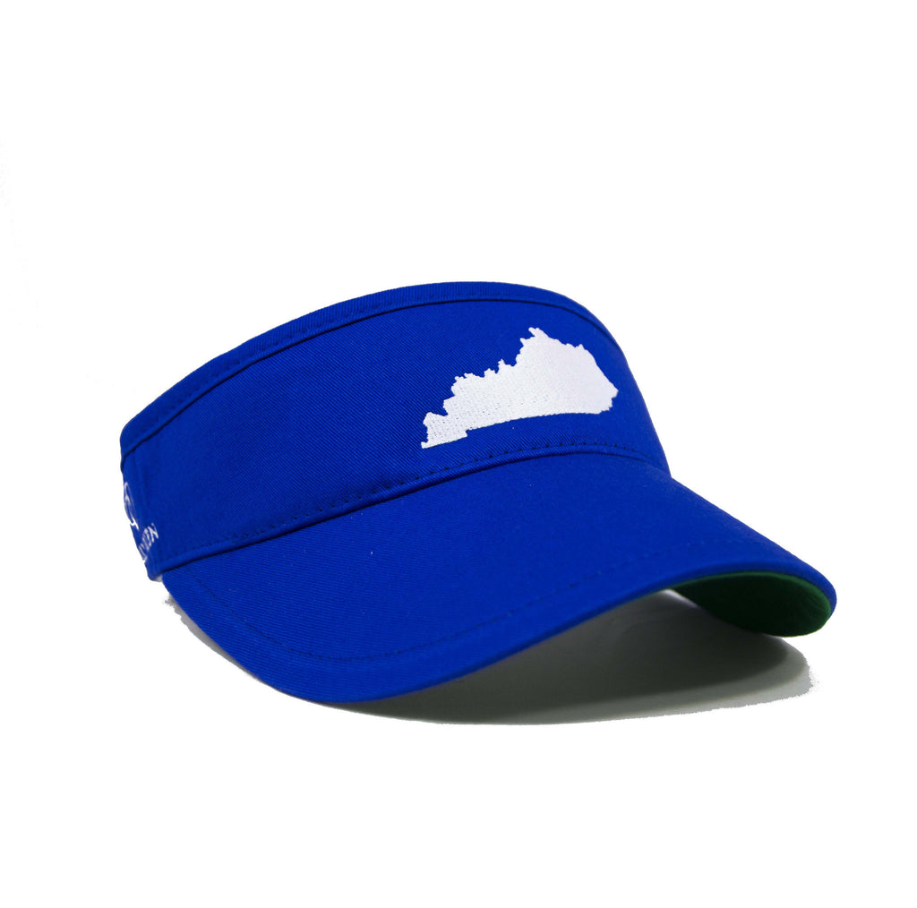 Kentucky Visor - Royal Blue & White