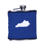Kentucky Flask - Royal Blue & White