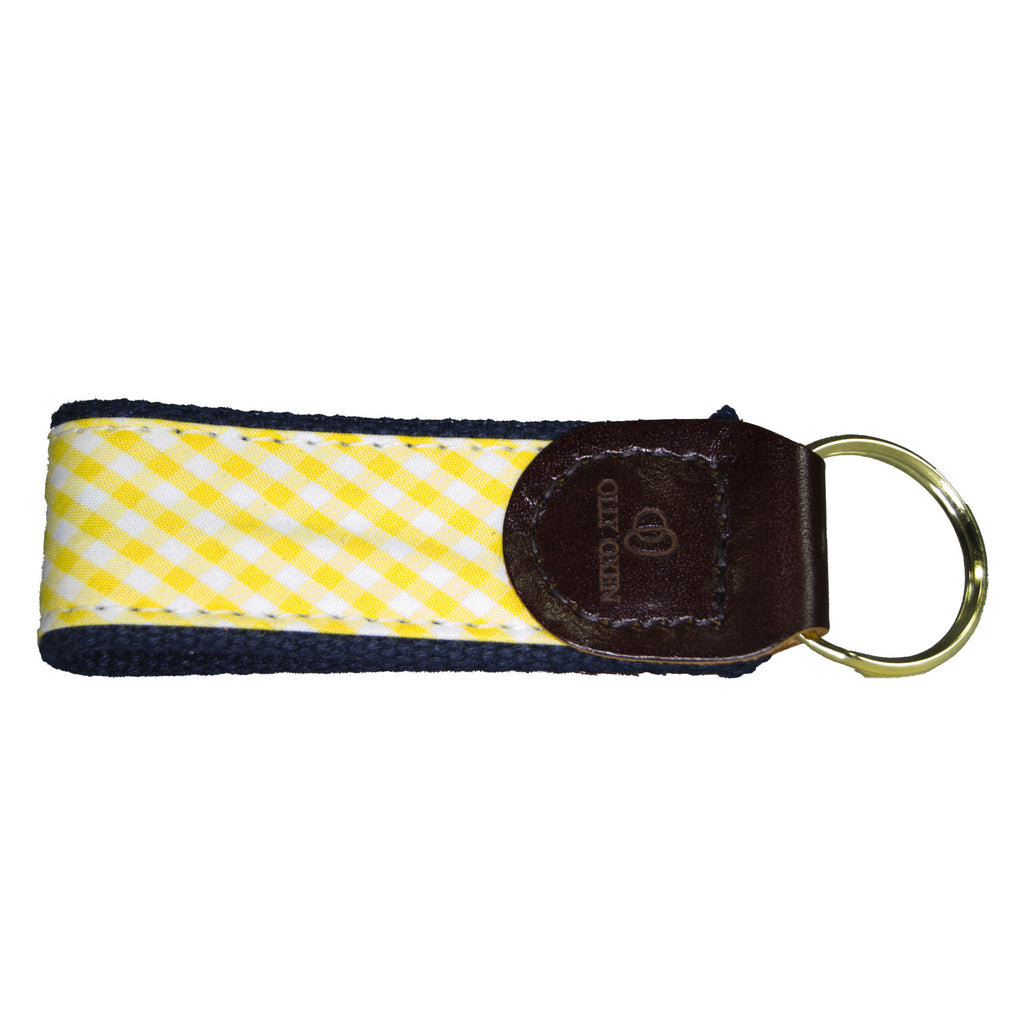 Gold & Navy Key Fob