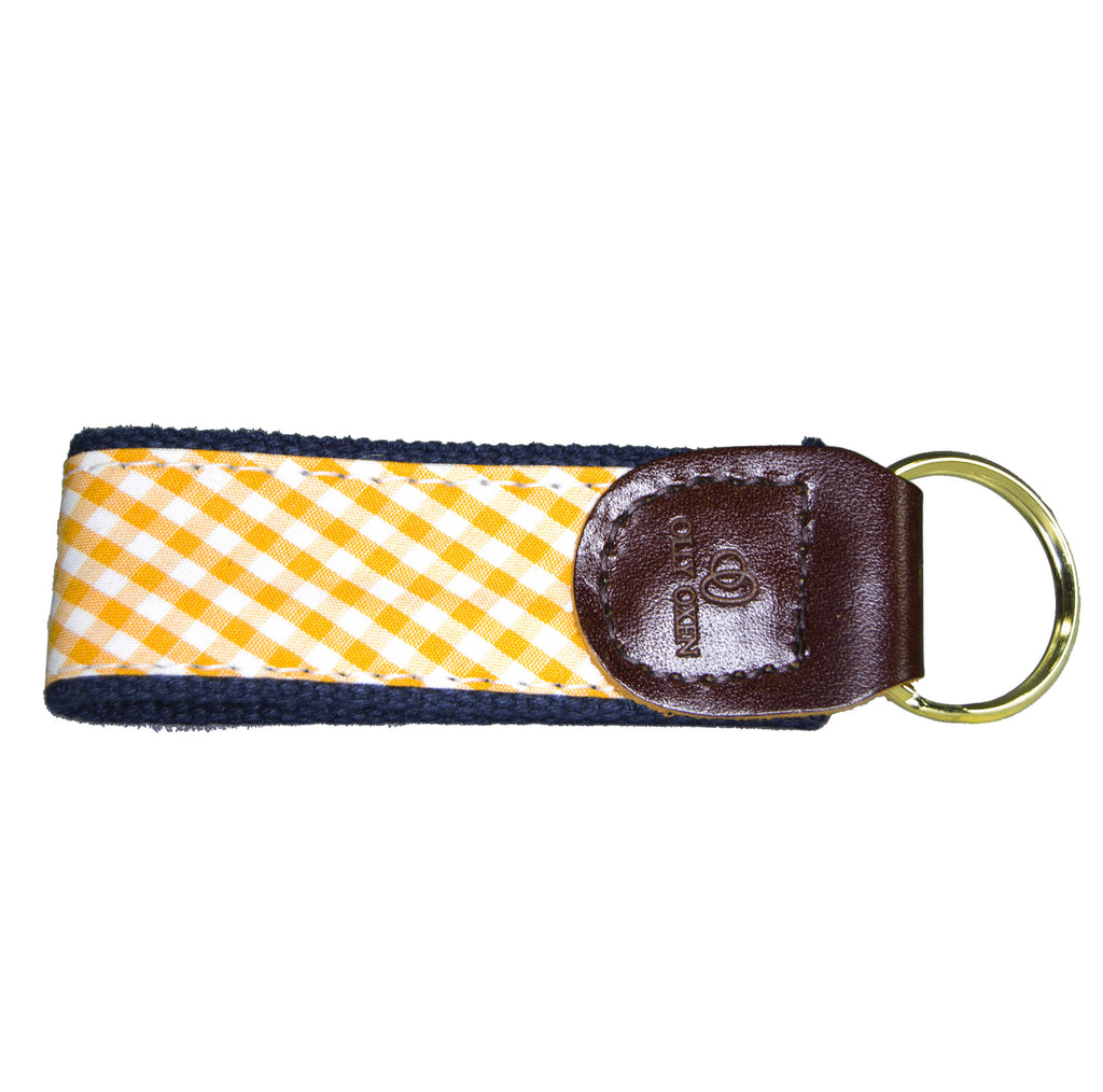 Orange & Navy Key Fob