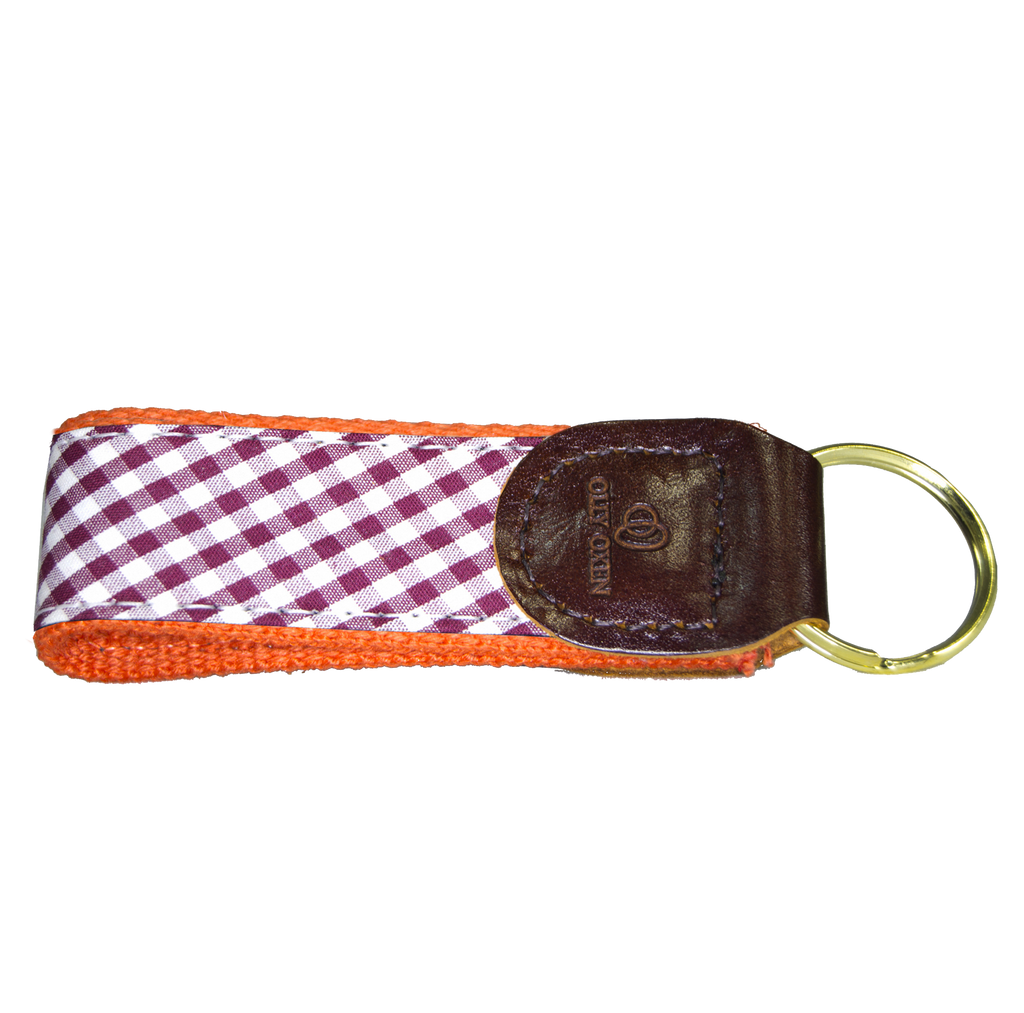 Maroon & Orange Key Fob