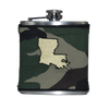 Louisiana Flask - Camo, Black & Gold