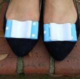 Light Blue & White Shoe Clips
