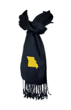 Missouri Scarf - Black & Gold