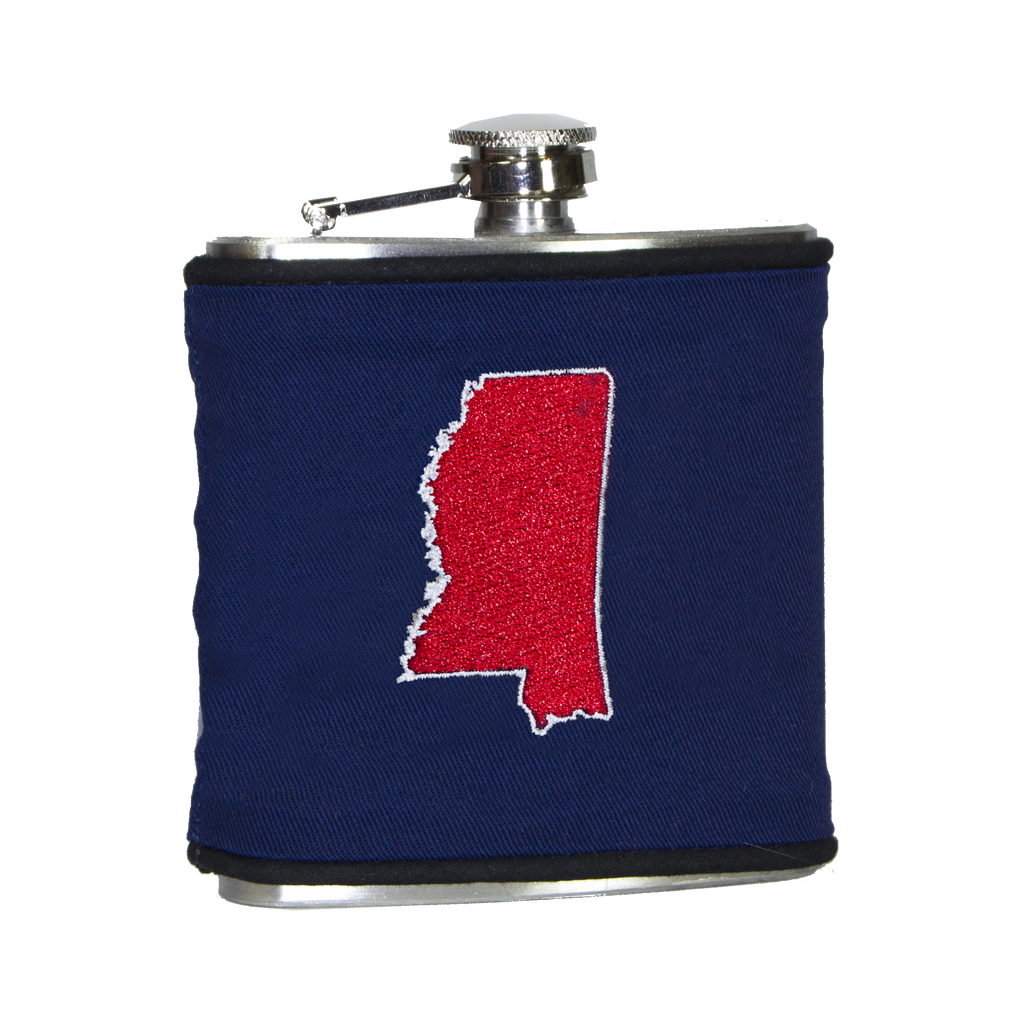 Mississippi Flask - Navy & Red