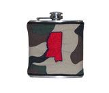 Mississippi Flask - Camo, Red & Navy