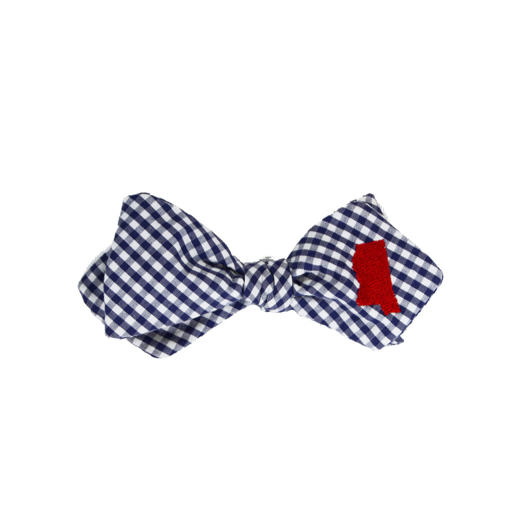Mississippi Bow Tie - Navy & Red