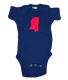 Mississippi Onesie - Navy & Red