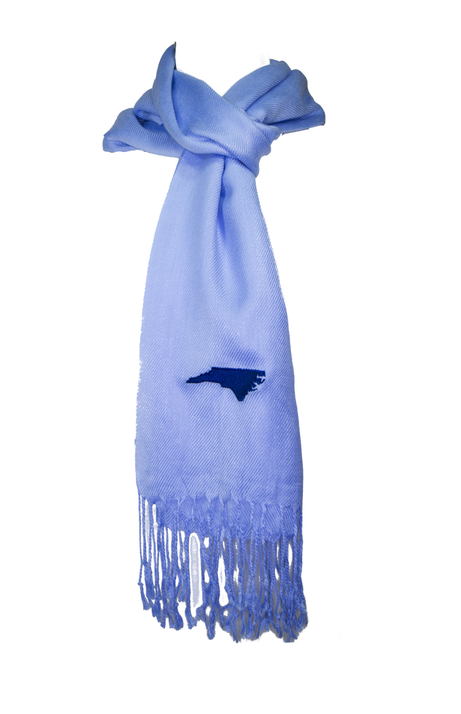 North Carolina Scarf - Light Blue & Navy