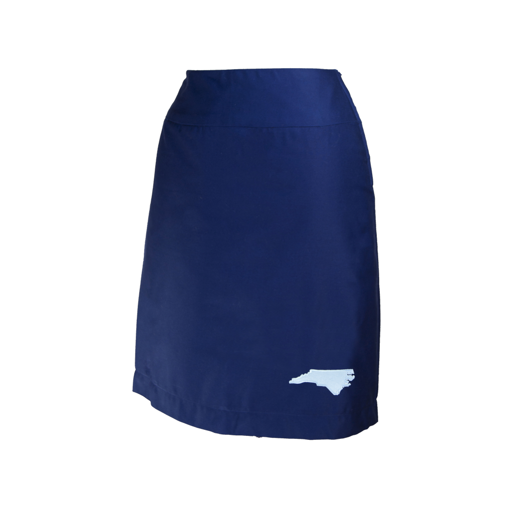 North Carolina Skirt - Navy & Light Blue