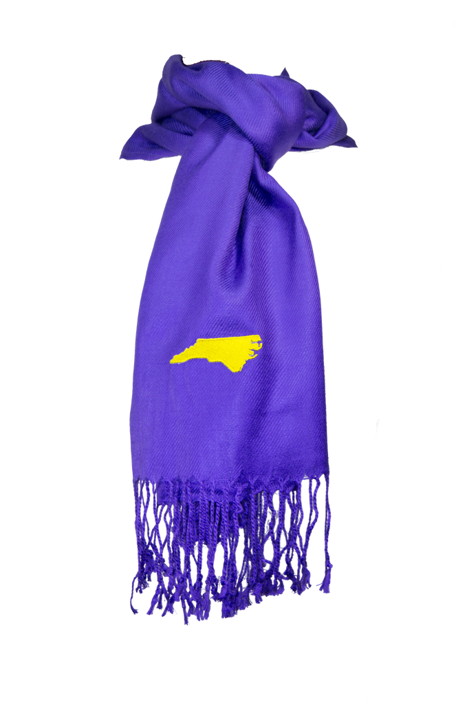North Carolina Scarf - Purple & Gold